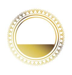golden round frame element vintage stamp blank vector image