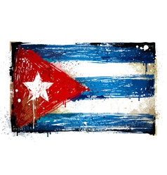Grungy cuban flag vector