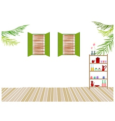 Home Interior Background vector image vector image