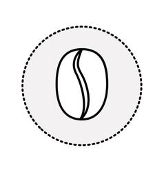 sticker coffee bean fruit drink design vector image vector image