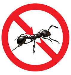 Ants banned Sign prohibited vector image vector image