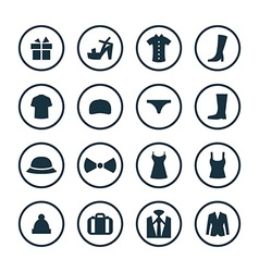 clothes icons universal set vector image vector image