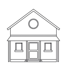 familiy house countryside outline vector image vector image
