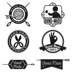 Hand Made logo design insignias vector image vector image
