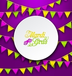 Mardi Gras Traditional Card Bunting Background vector image vector image