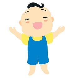 cartoon baby boy vector image vector image