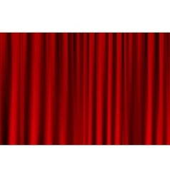 curtain or drapes red background vector image