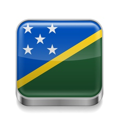 Metal icon of solomon islands vector