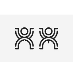 Restroom male and female sign creative toilet vector image