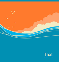 seascape background for text ocean waves vector image vector image