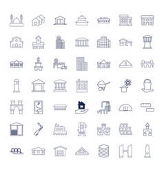 49 building icons vector