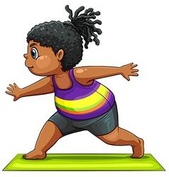 A girl doing yoga vector image