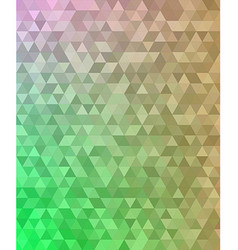 Abstract triangle mosaic transition background vector image