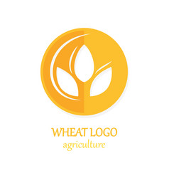 Agriculture wheat logo icon design template vector
