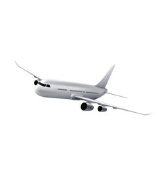 Airplane isolated on white background all vector