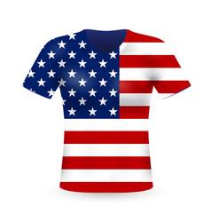 american stylish t-shirt vector image
