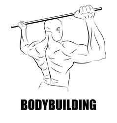 Athlete or bodybuilder vector