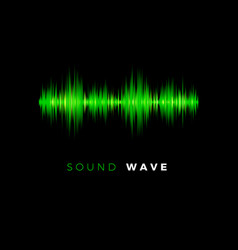 Audio wave sound beat line music equalizer vector