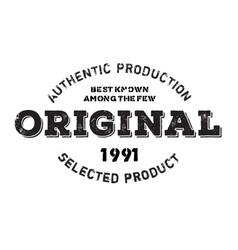 Authentic original product stamp vector