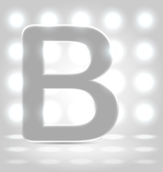 B over lighted background vector