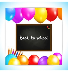 Back to school balloons panel background vector image