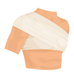 bandaged shoulder medical health and arm vector image