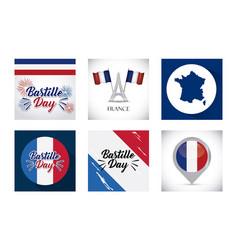bastille day and france design vector image