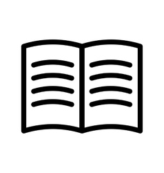 Black book icon vector image