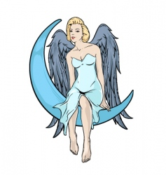 Blonde angel vector