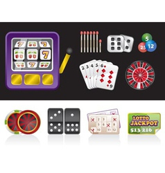 Casino and gambling tools icons vector