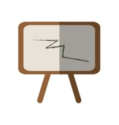 Chalkboard tripod chalk school shadow vector