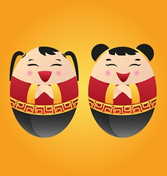 Chinese doll vector