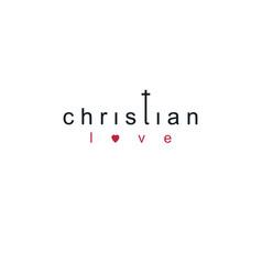 christian love lettering logo isolated on white vector image
