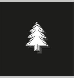 christmas tree - xmas silhouette symbol winter vector image