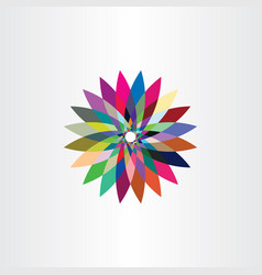 colorful leaves icon flower logo symbol sign vector image