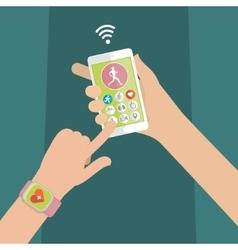 Concept of smart watch vector