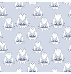 Cute owl seamless pattern vector