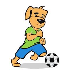 Dog footballer vector