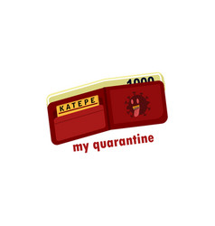 Empety purse in quarantine corona vector