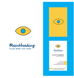 eye creative logo and business card vertical vector image