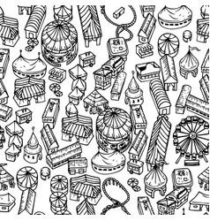 Fair seamless pattern vector