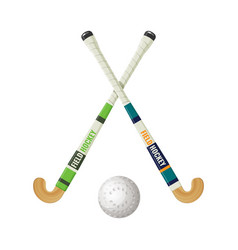 Field hockey equipment and small ball vector