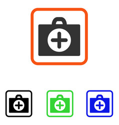 first aid framed icon vector image