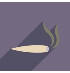 Flat web icon with long shadow marijuana cigarette vector
