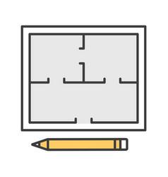 floor plan color icon vector image