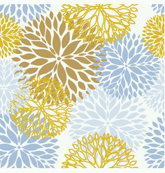 floral seamless pattern in pastel colors seamless vector image