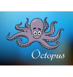 Funny cartoon baby octopus vector image