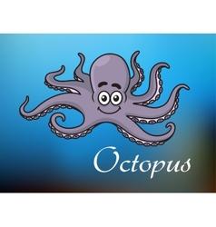 Funny cartoon baby octopus vector