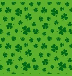 green clover seamless pattern shamrock vector image