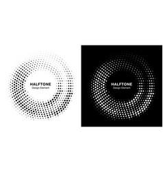 Halftone circle dots frame circle dots logo vector